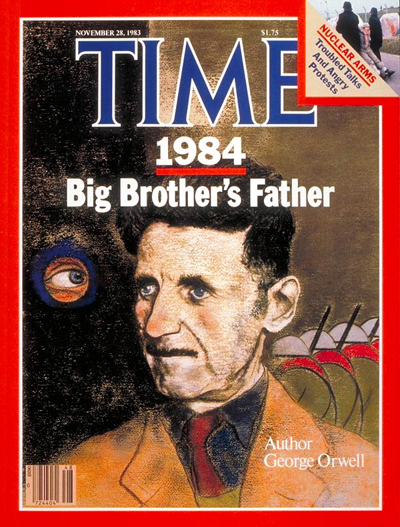 George Orwell, capa da Time - 28/11/1983